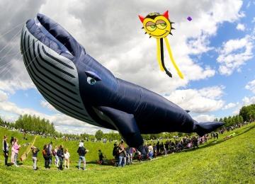 Прощание с летом на фестивале воздушных змеев в Царицыно