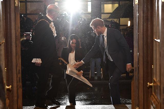 Первый выход в свет принца Гарри и Меган Маркл