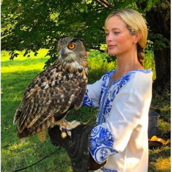 Кэролин Мерфи подружилась с совой